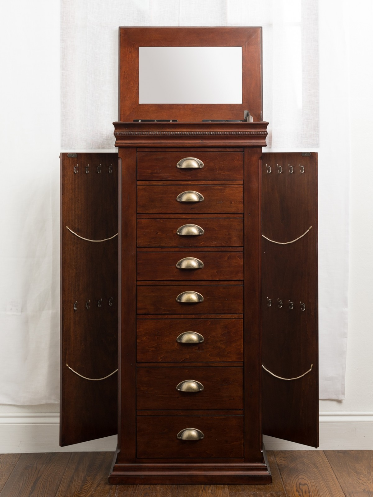 Madison Jewelry Armoire Mahogany Hives and Honey