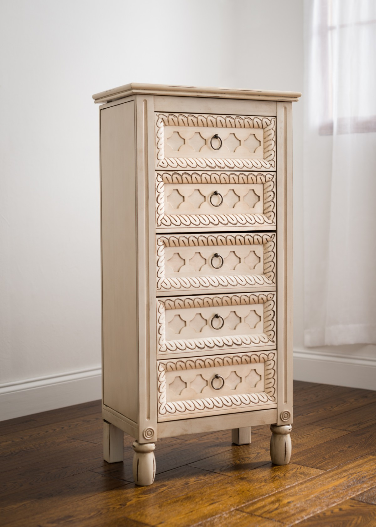Abby Jewelry Armoire ~ Antique Ivory | Hives and Honey