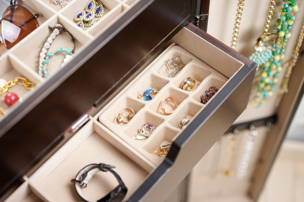 Chelsea Jewelry Armoire Espresso Hives and Honey
