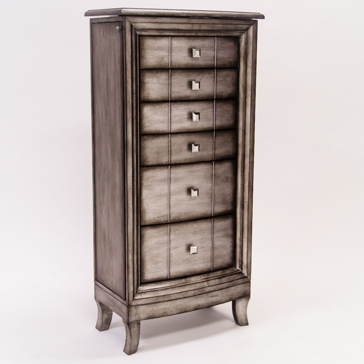 natalie jewelry armoire silver leaf hives and honey. Black Bedroom Furniture Sets. Home Design Ideas