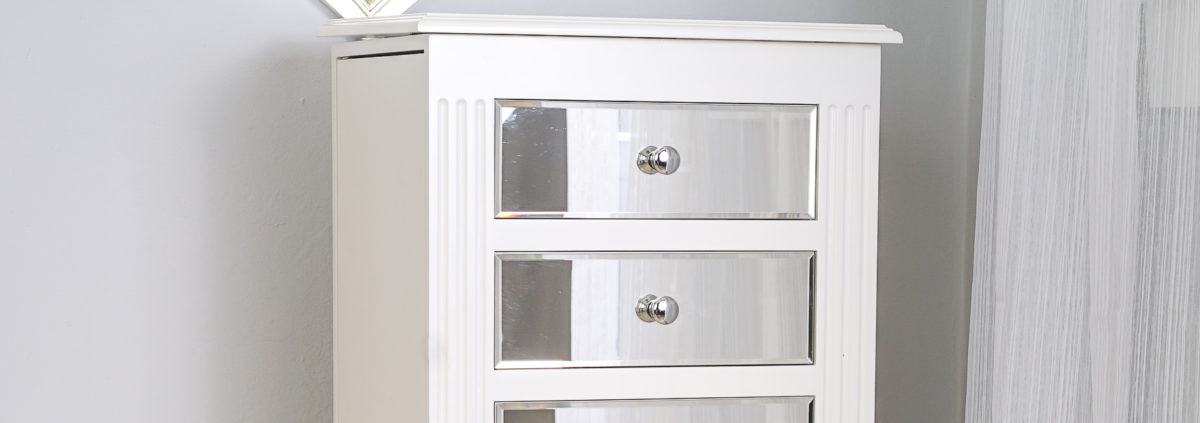 ava jewelry armoire mirrored white