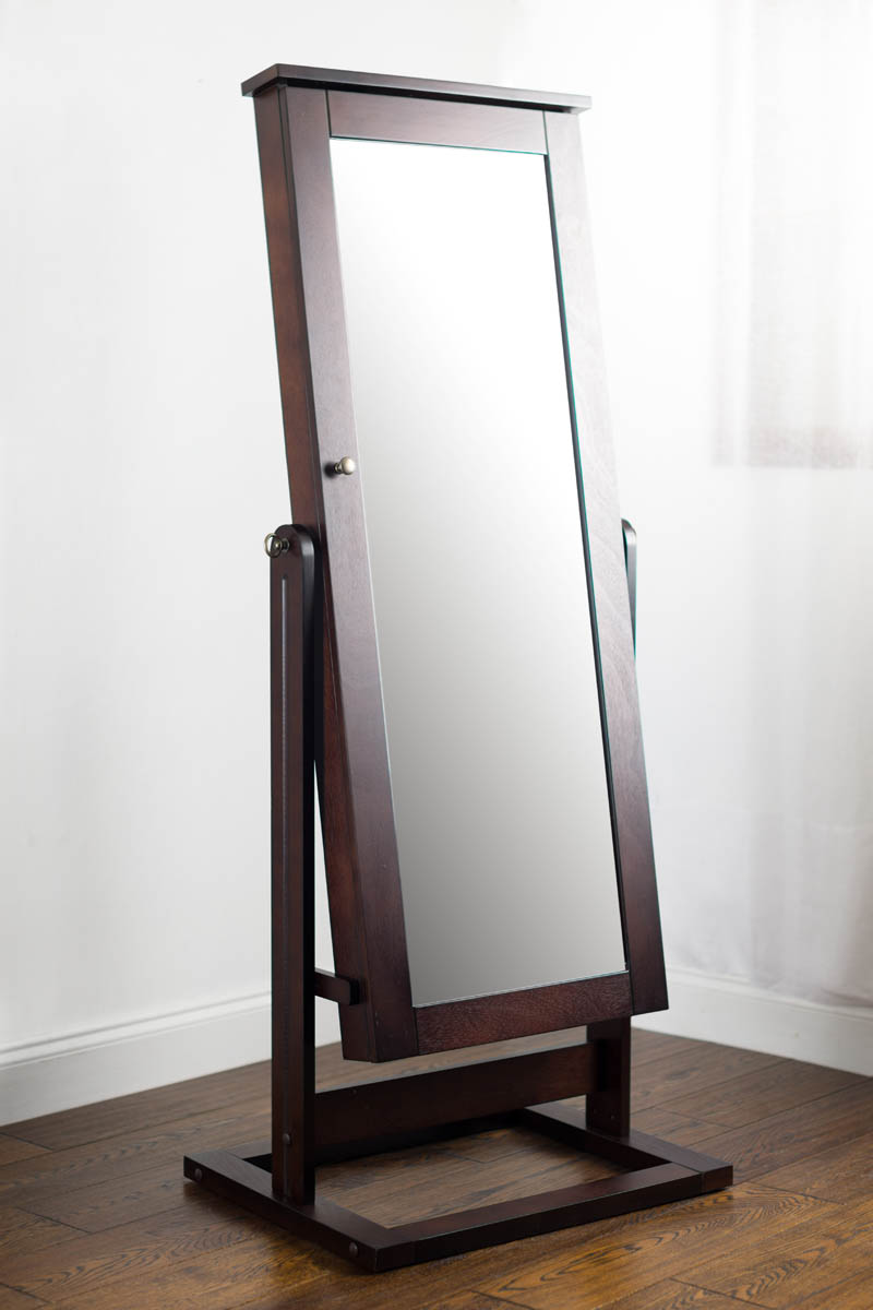 Hives Honey Cheval Jewelry mirror in Walnut Assembly guide