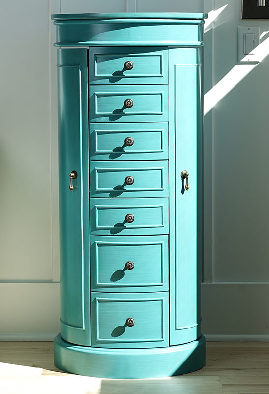 Awesome Bailey Jewelry Armoire ~ Turquoise