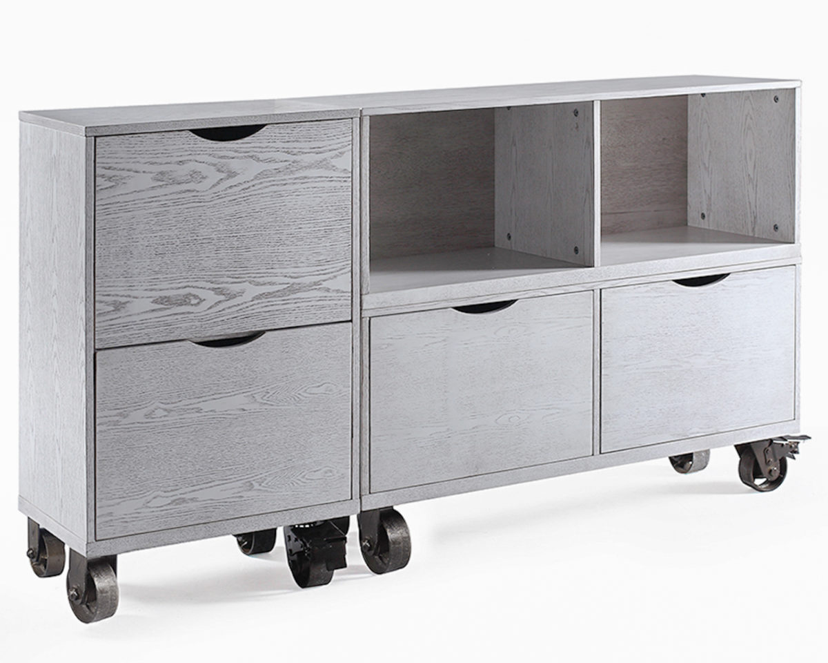 Archer Mobile Storage Filing Cabinets White Wash Hives