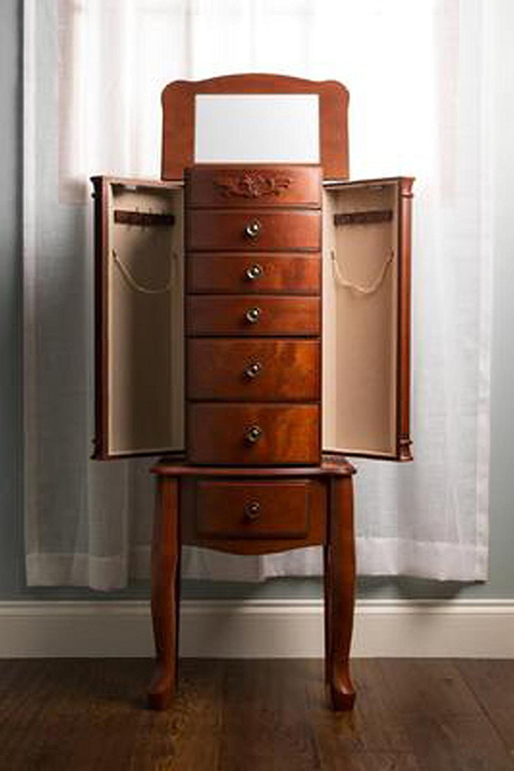 Morgan Jewelry Armoire ~ Cherry | Hives and Honey