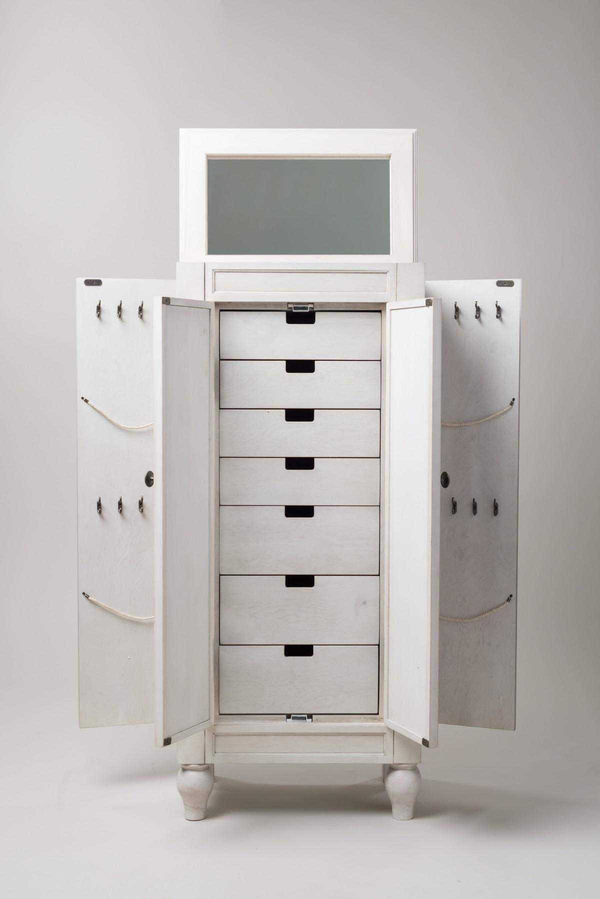 celine jewelry armoire century white