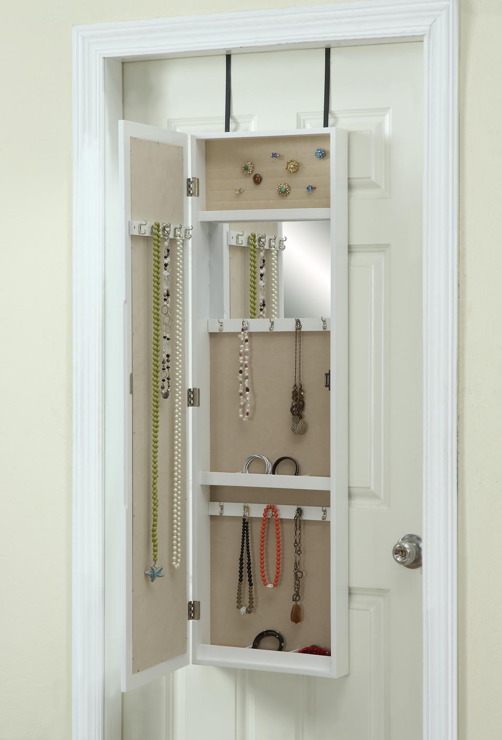 Over The Door Mirror Jewelry Storage Listitdallas