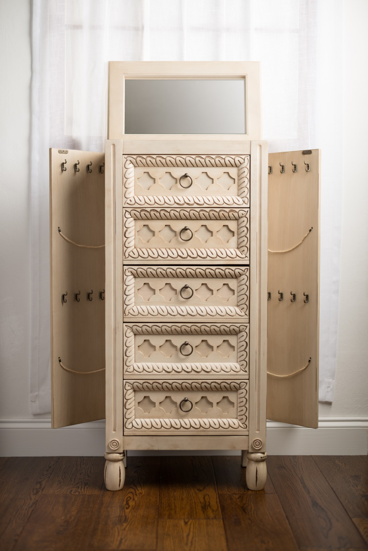 Abby Jewelry Armoire Antique Ivory Hives And Honey