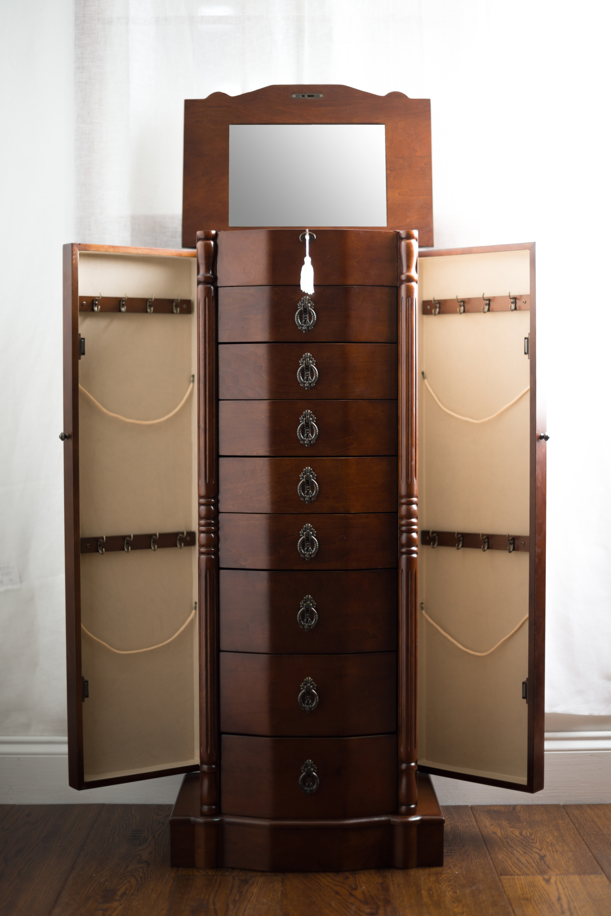 Robyn Jewelry Armoire ~ Rich Walnut