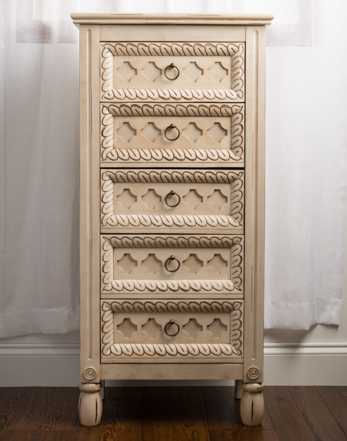Abby Jewelry Armoire ~ Antique Ivory