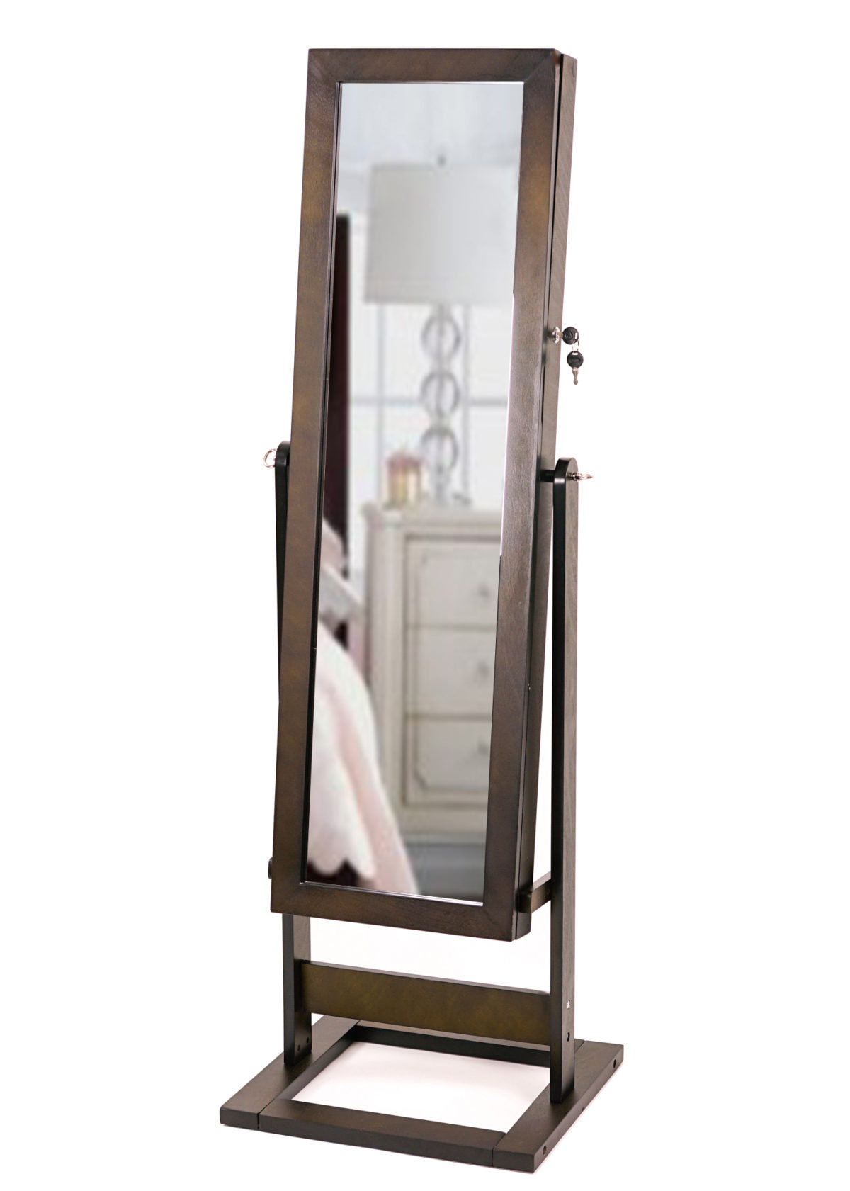 closet most holder armoire for matchless standing storage mirrored with jewellery cabinet jewelry free mirror floor wall