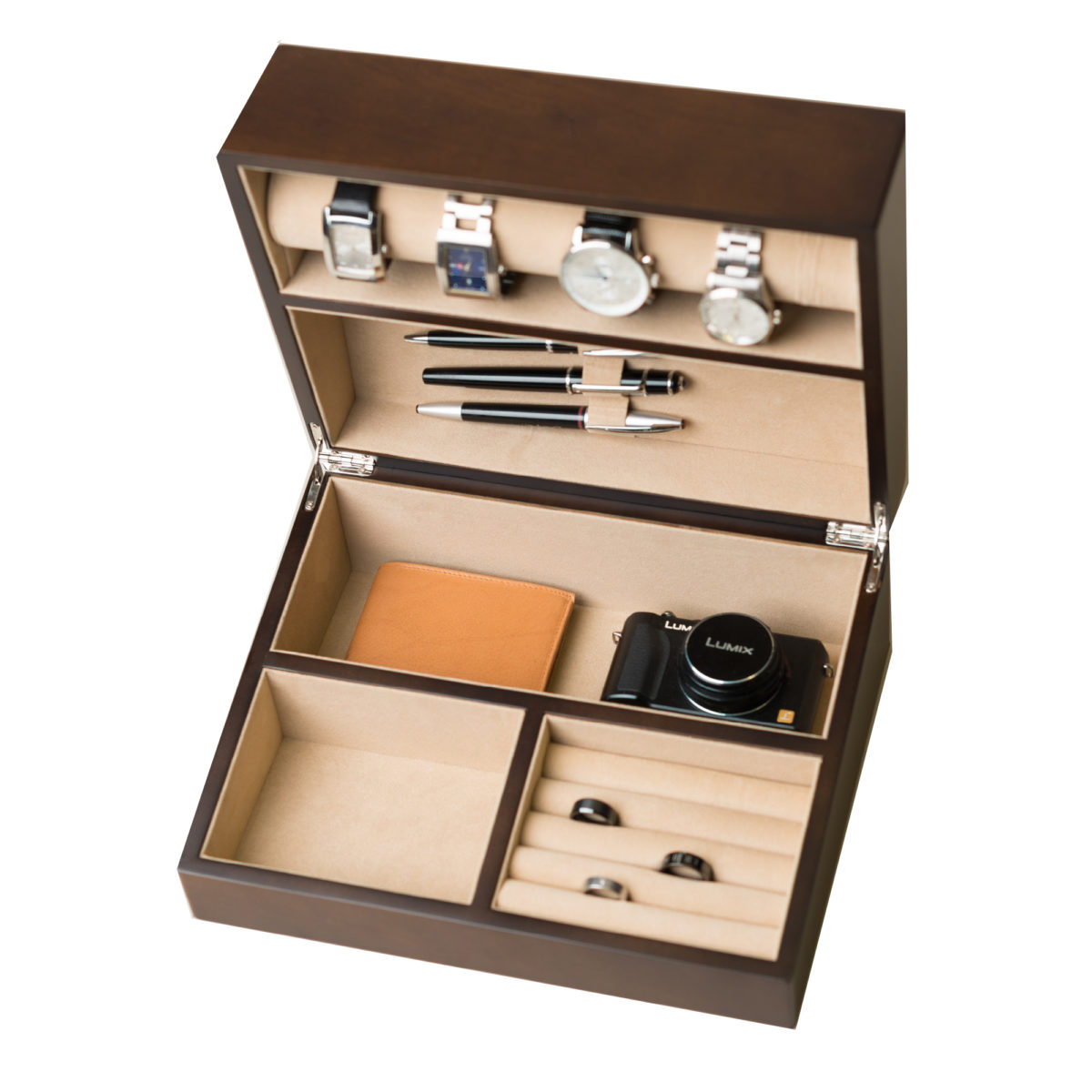 Trenton valet and watch box hives and honey for Watches box