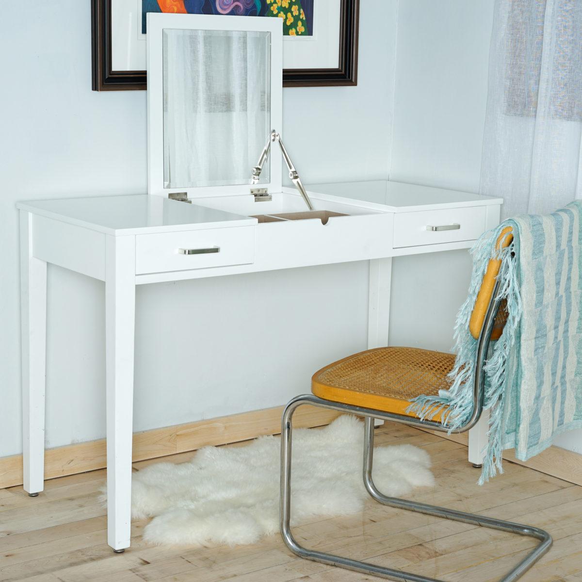 Ainsley vanity desk crisp white hives and honey for Vanity desk