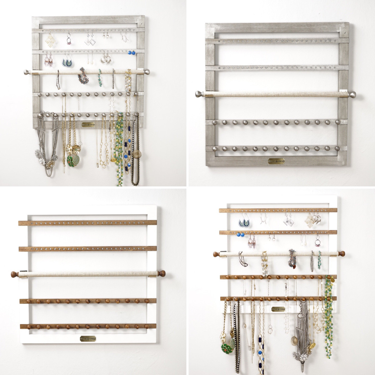 Superior Wall Hanging Jewelry Storage ~ Silver