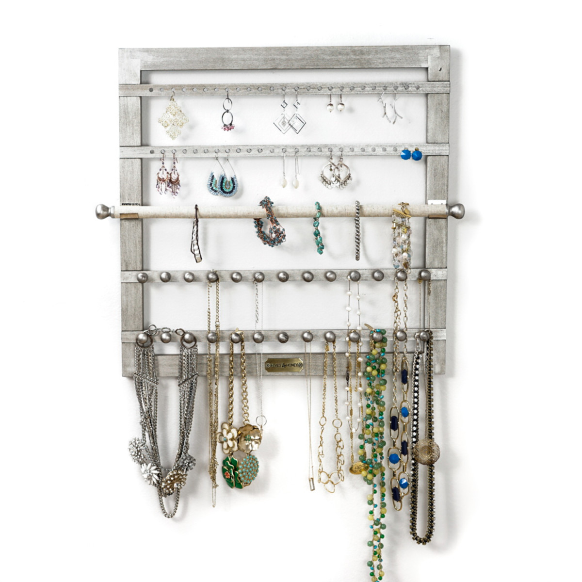 Wall Hanging Jewelry Storage ~ Silver