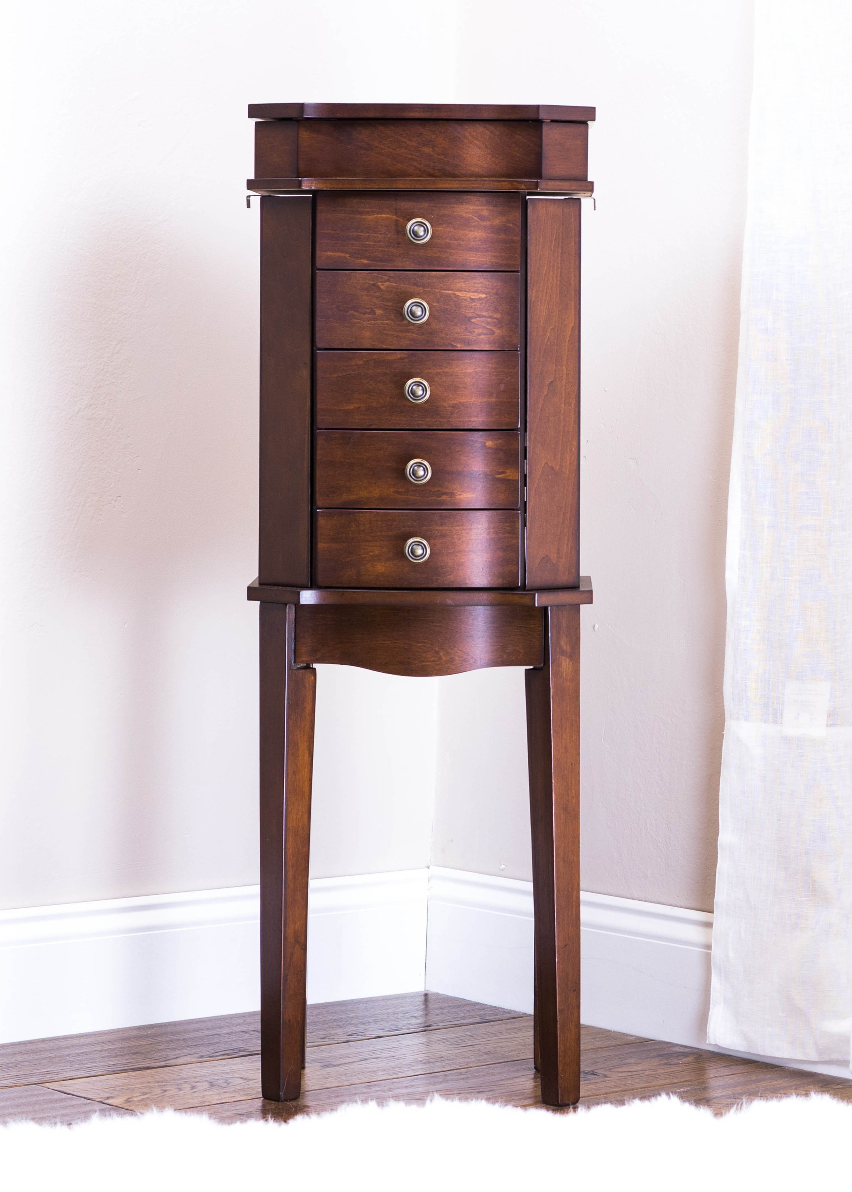 Meg Jewelry Armoire Rich Walnut Hives And Honey