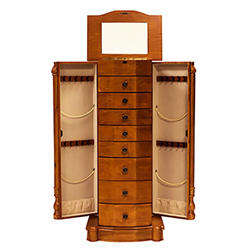Florence Jewelry Armoire ~ Honey Oak