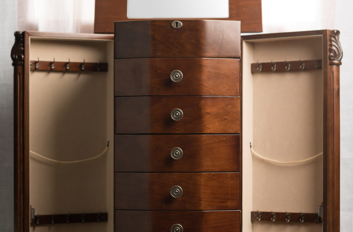 Florence Jewelry Armoire Rich Walnut Hives And Honey