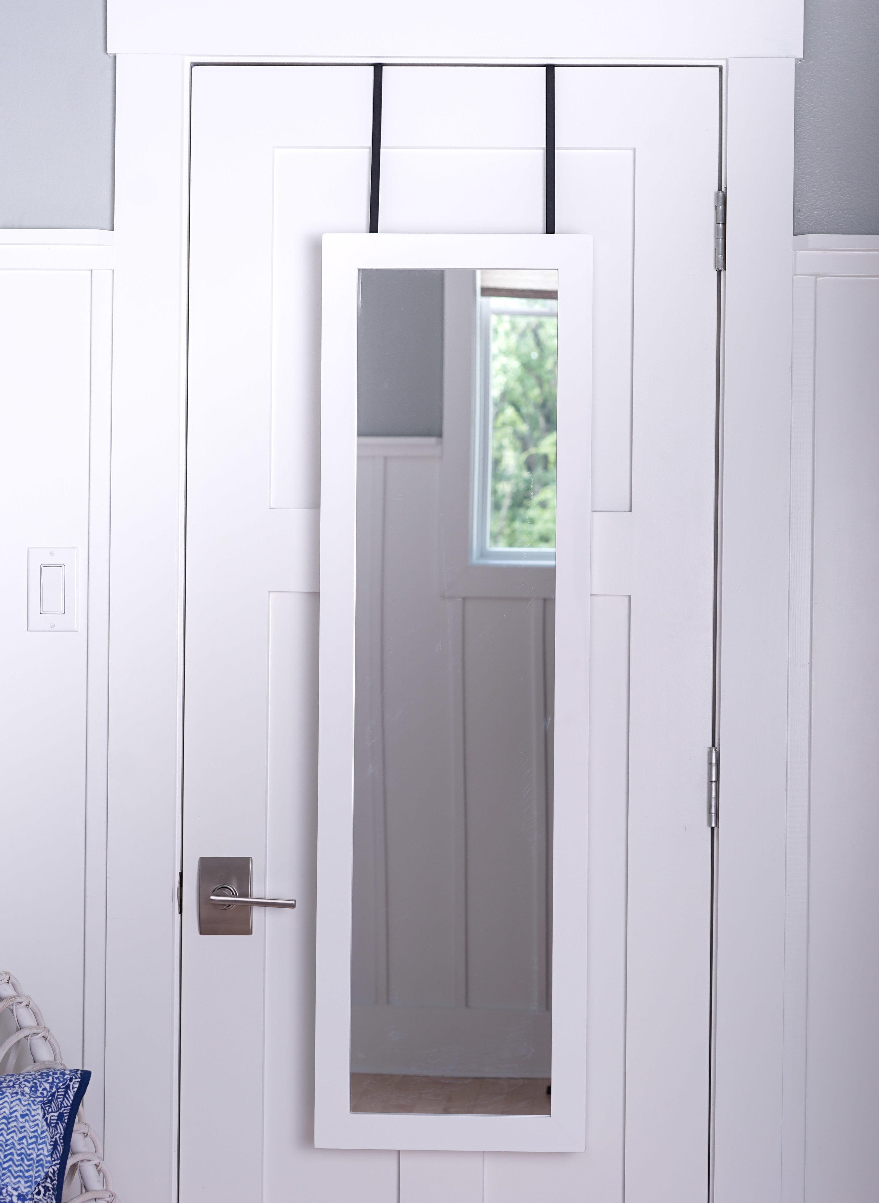 Over The Door 3 Tier Bathroom Towel Bar Rack Chrome W: Kampbell Over The Door Jewelry Armoire With Mirror~ Tuscan