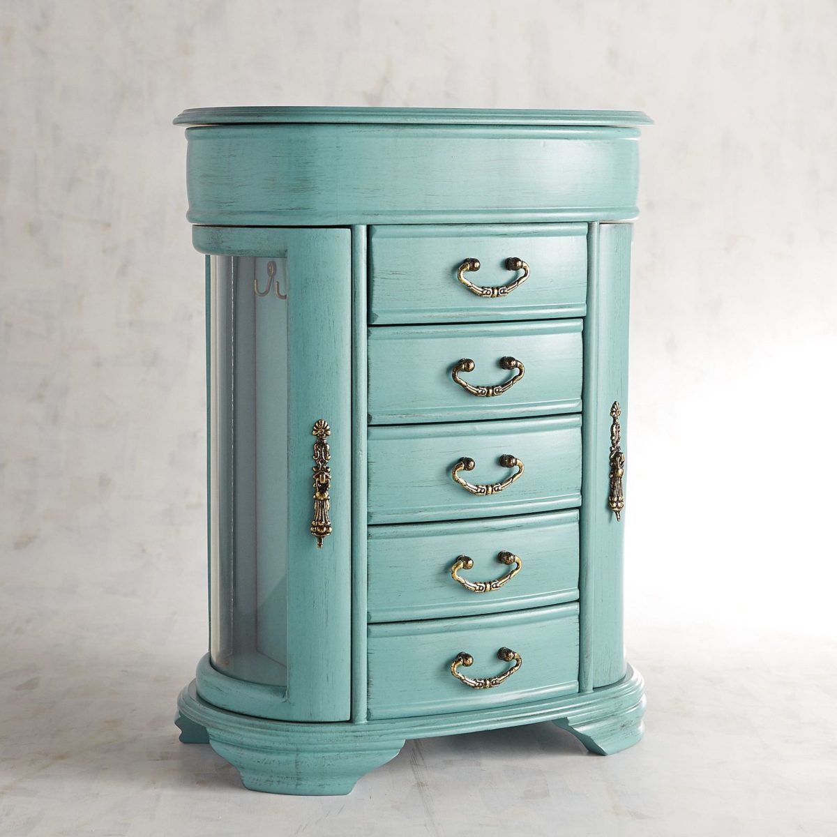 Daphne Wood Jewelry Box ~ Turquoise | Hives and Honey